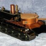 Steampunk, veja o tanque de controle remoto que utiliza motores a vapor