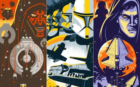 Star Wars, a trilogia prelúdio nunca pareceu visualmente tão incrível quanto nestes posters