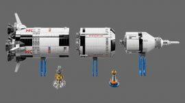 LEGO lança conjunto com o foguete  Saturn V utilizada nas missões lunares da NASA