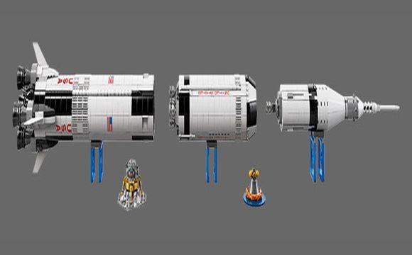 LEGO lança conjunto com o foguete  Saturn V utilizado nas missões lunares da NASA